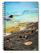 Rocks And Clear Water Abstract Spiral Notebook