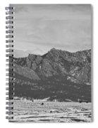 Rocky Mountains Flatirons And Longs Peak Panorama Boulder Spiral Notebook