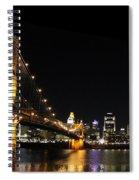 Roebling Suspension Bridge Pano 3 Spiral Notebook