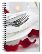 Romantic Dinner Setting With Rose Petals Spiral Notebook