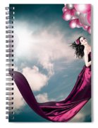 Romantic Girl In Love With Beauty And Fashion Spiral Notebook