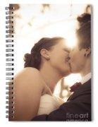 Romantic Wedding Kiss Spiral Notebook