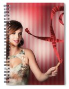 Romantic Woman In A Whirlwind Love Romance Spiral Notebook
