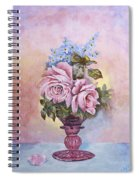 Roses In Ruby Vase Spiral Notebook