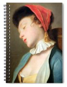 Rotari's A Sleeping Girl Spiral Notebook