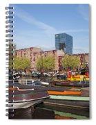Rotterdam Cityscape In Netherlands Spiral Notebook