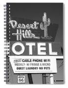 Route 66 - Desert Hills Motel Spiral Notebook