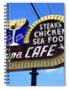 Route 66 - Luna Cafe Spiral Notebook