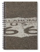 Route 66 - Oklahoma Shield Spiral Notebook