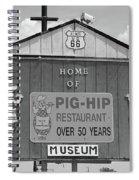 Route 66 - Pig-hip Restaurant Spiral Notebook