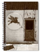 Route 66 - Rusty Mobil Station Spiral Notebook