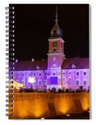 Royal Castle In Warsaw At Night Spiral Notebook
