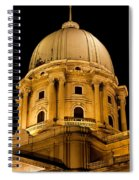 Royal Palace Dome In Budapest Spiral Notebook
