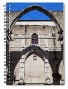 Ruins Of Carmo Convent In Lisbon Spiral Notebook
