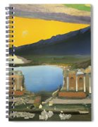 Ruins Of The Greek Theatre At Taormina Spiral Notebook