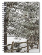 Rural Winter Scene With Fence Spiral Notebook