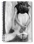 Sad Angel Woman Spiral Notebook
