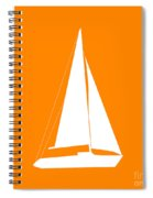 Sailboat In Orange And White Spiral Notebook