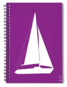 Sailboat In Purple And White Spiral Notebook