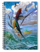 Sailfish And Lure Spiral Notebook