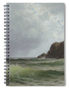 Sailing Off The Coast Spiral Notebook