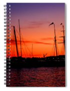 San Diego Harbor Sunset Spiral Notebook