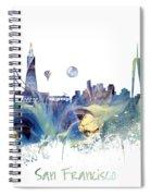 San Francisco City Skyline Spiral Notebook