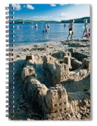 Sandcastle On The Beach Spiral Notebook