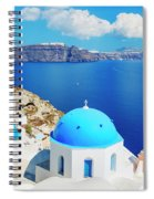 Santorini Island, Greece, Beautiful Spiral Notebook
