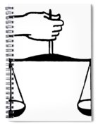 Scales Of Justice Spiral Notebook