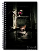 Scary Clown Clawing Window Spiral Notebook