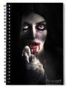 Scary Vampire Woman. Bloody Halloween Horror Spiral Notebook