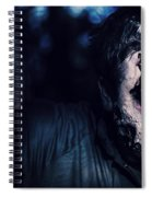 Scary Zombie Looking Gravely Ill. Monster Disease Spiral Notebook