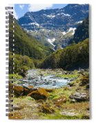 Scenic Valley In New Zealand Spiral Notebook