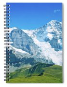 Scenic View Of Eiger And Monch Mountain Spiral Notebook