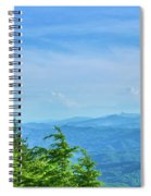 Scenic View Of Mountain Range Spiral Notebook
