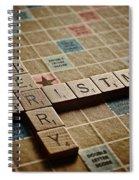Scrabble Merry Christmas Spiral Notebook