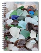 Sea Glass In Many Colors Spiral Notebook