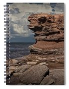Sea Stack At North Cape On Prince Edward Island Spiral Notebook