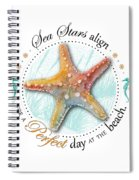 Sea Stars Align For A Perfect Day At The Beach Spiral Notebook