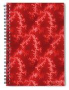 Seamless Fractal Red Spiral Notebook