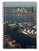 Seattle Skyline And South Industrial Area Spiral Notebook