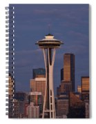 Seattle Skyline And Space Needle With City Lights Spiral Notebook
