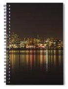 Seattle Skyline On Lake Union Spiral Notebook