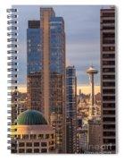Seattle Space Needle Golden Sunset Light Spiral Notebook