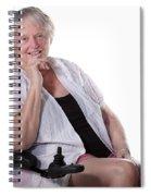 Senior Woman In Wheel Chair Spiral Notebook
