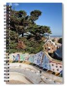 Serpentine Bench In Park Gueli In Barcelona Spiral Notebook