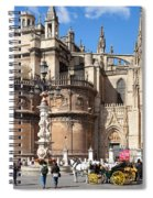 Seville Cathedral In The Old Town Spiral Notebook