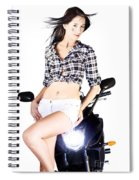Sexy Biker Girl Spiral Notebook