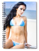 Sexy Tanned Beach Woman Spiral Notebook